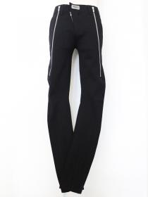 "FAGASSENT ""SL2 black"" zip down in front with no waist in summer jersey trouser"