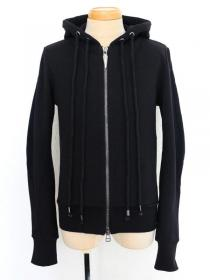 "FAGASSENT ""FP"" Summer black cotton with signature zip head, hoody"