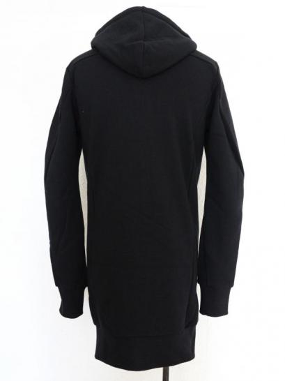 "FAGASSENT ""FPL"" Summer black cotton with signature zip head, long hoody"