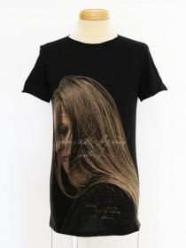 "FAGASSENT ""TP her black"" Printed T shirt with Victoria"