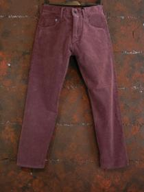 VADEL stretch corduroy over dyed bio wash ankle tight easy / burgundy