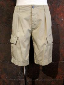 VADEL compact chino cargo shorts / beige