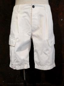 VADEL compact chino cargo shorts / white