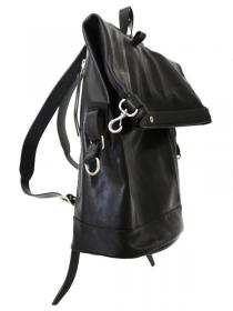 [rewords/rewordsdesign] VEGETABLE TANNED STEER 1.5  LEATHER BACKPACK YA1 / BLACK