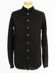 [rewords/rewordsdesign] CO/RAMIE TWILL NATURAL SHRINK SHIRTS / BLACK