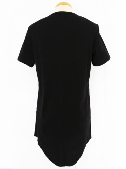 [rewords/rewordsdesign] 160/2 UNTWISTING INTERLOCK/BIO LEAN CUT S/S TEE / BLACK