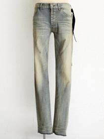 "青激-SEIGEKI- ""1"" 12oz original stretch denim aqua sandy wash"