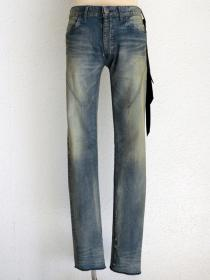 "青激-SEIGEKI- ""J"" 12oz original stretch denim aged sandy wash"