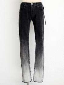 "青激-SEIGEKI- ""10"" 12oz original stretch denim black grey grduated wash"