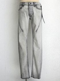 "青激-SEIGEKI- ""I"" 12oz original stretch denim ice stone wash"