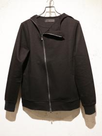 CRUCE&Co. Slashed zip hooded boulson / BLACK