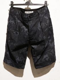 VADEL pripela dark flower utility shorts / blue gray