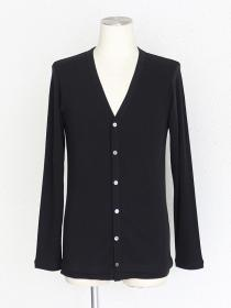 [rewords/rewordsdesign] TUCK HEM LIGHT CARDIGAN / BLACK