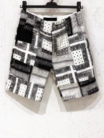 BACKBONE BANDANA PATCHWORK SUMMER SHORTS / Mono tone