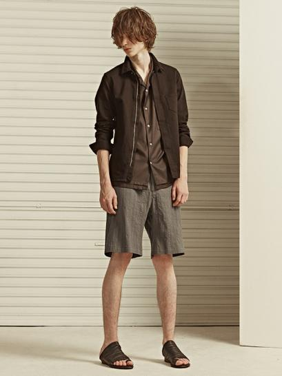 [rewords/rewordsdesign] PIQUE ACTIVE EASY SHORTS / M.GREY