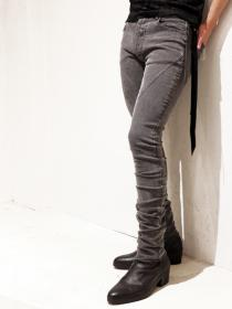 "青激-SEIGEKI- ""GL"" 12oz original stretch denim grey rough stone wash"