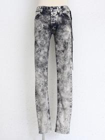 "青激-SEIGEKI- ""BANDANA"" BANDANA BLURRY PRINT BLEACHED  STRETCH DENIM"