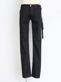 "青激-SEIGEKI- ""BLACK2"" BLACK STONE WASH STRETCH DENIM"