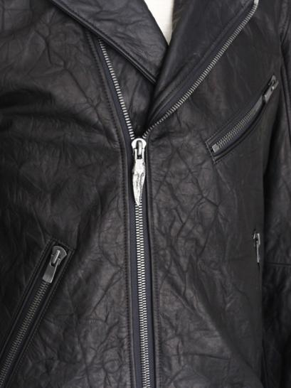 "FAGASSENT ""BIKER"" Double riders classic cow leather jacket"