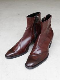 "FAGASSENT ""BULLET london""  6.5cm heel, 2 seaming Camden shadow leather boots"