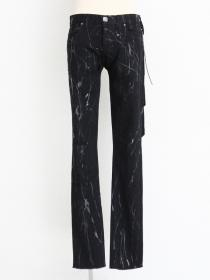 "青激-SEIGEKI- ""SPLATTER"" 12oz original stretch black splatter black rinse wash"