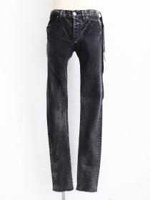 "青激-SEIGEKI- ""BLUST"" Dark grey stone washed denim with wrinkles"