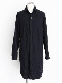 "FAGASSENT ""SH6 black"" Shrinked cotton black long shirt"