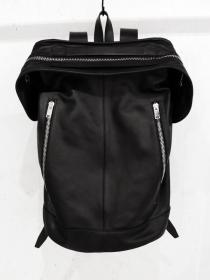 "rewords/rewordsdesign Comfort Kip Leather Backpack ""F-ZIP"" / BLACK"