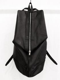 "rewords/rewordsdesign Leather Backpack ""DROOP"" / BLACK"