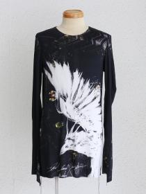 "FAGASSENT ""TP-maria"" Photo print Long sleeve jerzy on back-seaming with black"