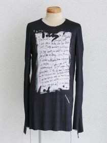 "FAGASSENT ""TP-bleeze"" Photo print Long sleeve jerzy on back-seaming with black"