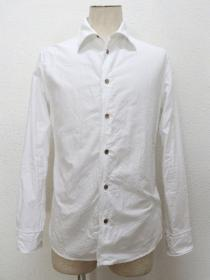 VADEL basic OX selavage-wire shirts L/S / white