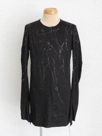 "FAGASSENT ""20AW-TA2-splatter""Black crystal splatter painting on long sleeve"