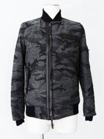 VADEL  jaquard camo off set MA-1 / dark gray