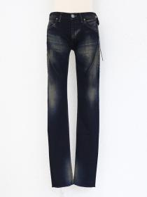 "青激-SEIGEKI- ""DK"" Dark blue mixed oak colour  stone washed jean"