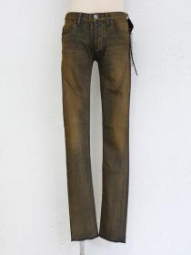 "青激-SEIGEKI- ""A"" Sand dusty indigo dyed indigo washed jean"
