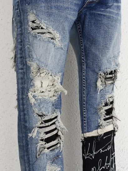 "FAGASSENT ""RIDER""  Calf crawling message sleek with distressed scar crush..."